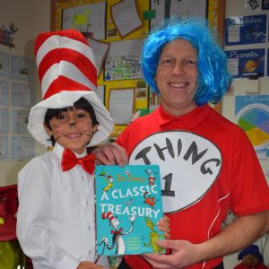 Two boys in World Book Day Costumes