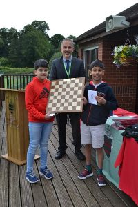 Large Image of year 6 Chess players at Hallfield School.