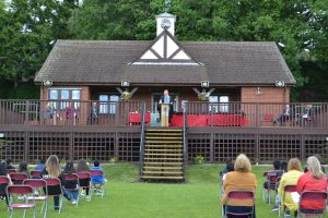 Large image of Headteacher at Speech Day.