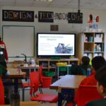 Image of a Year 7 design and technology lesson at Hallfield School.