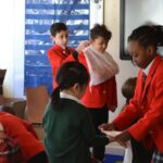 Image of Hallfield pupils learning about First Aid.
