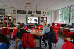 Image of the Year 2 Taster day in the Design & Technology class at Hallfield School