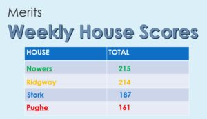 Image of the Weekly House Scores at Hallfield School