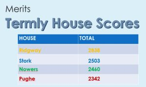 Image of the Termly House Scores for Hallfield School