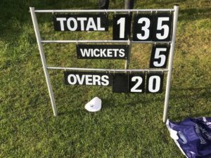 Image of the crickets score.