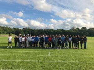 Image of pupils at the Hallfield School Class of 202 reunion event.